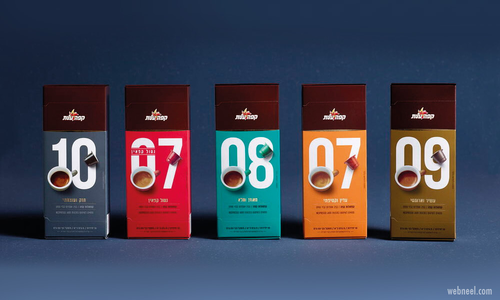 packaging design colorful coffee tea packaging design