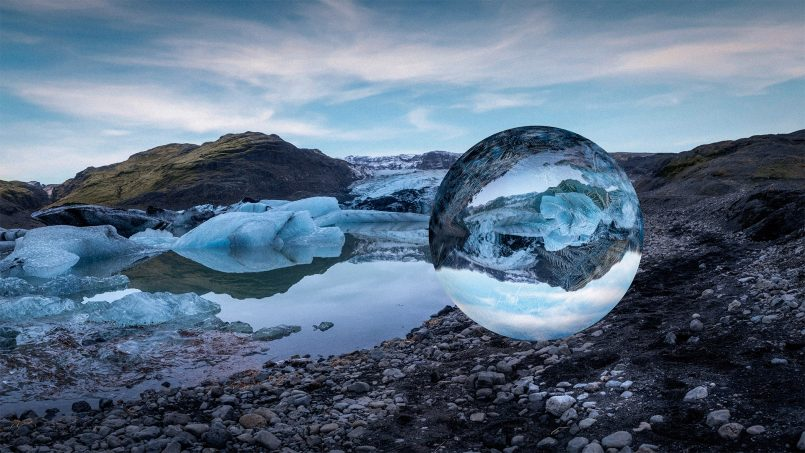 photo manipulation ice ball