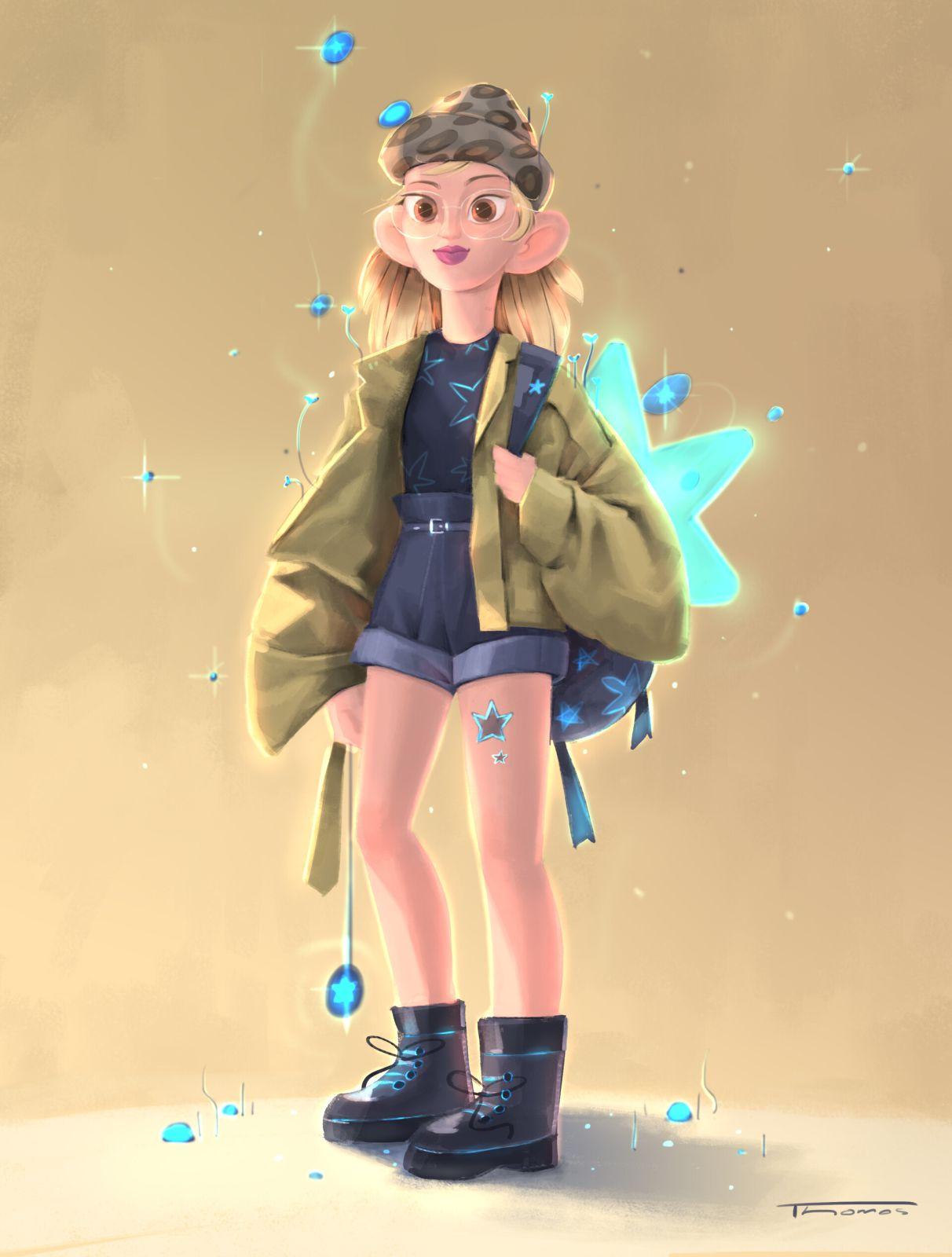 indian digital illustration girl