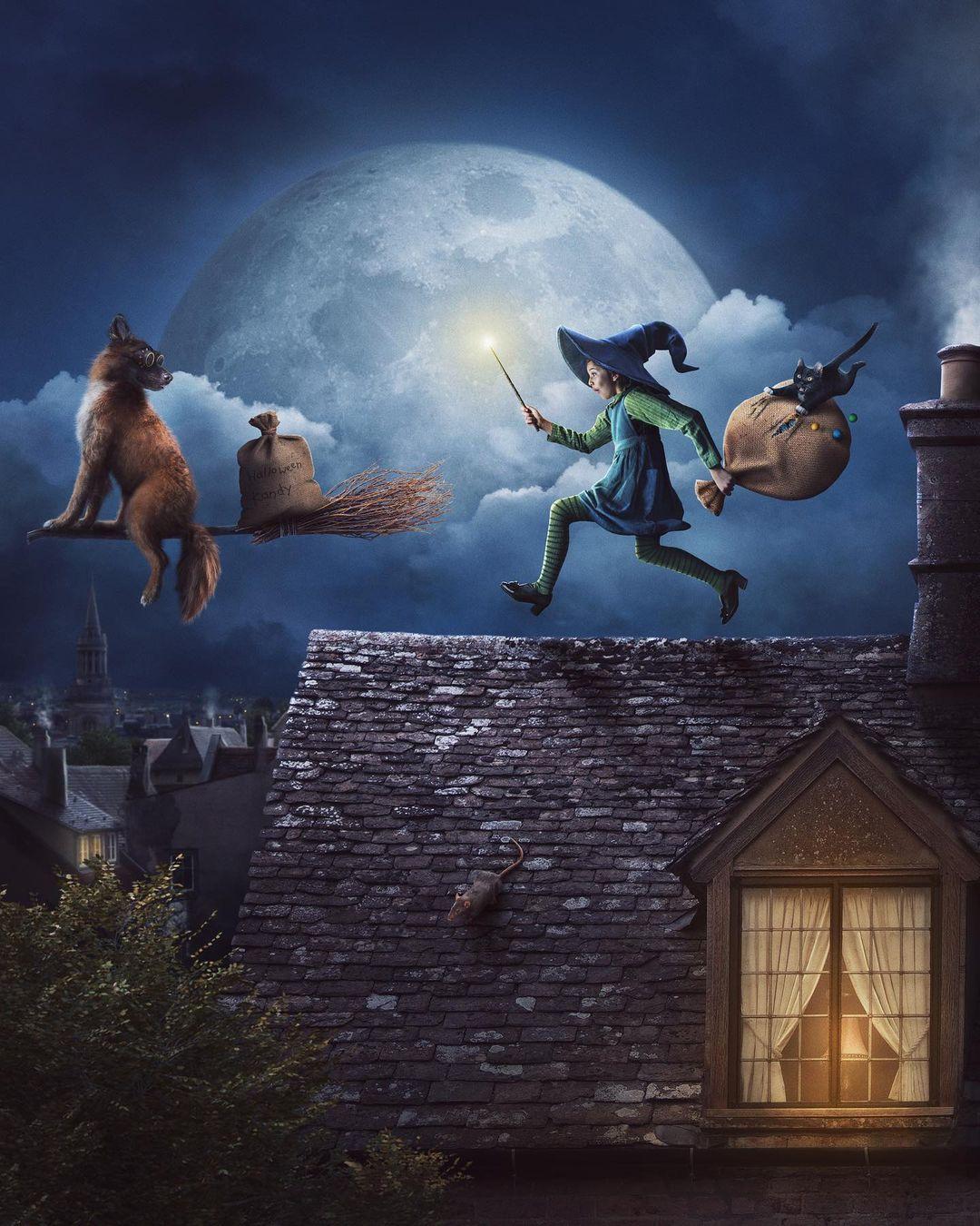 surreal photomanipulation stealing christmas by vanessa rivera