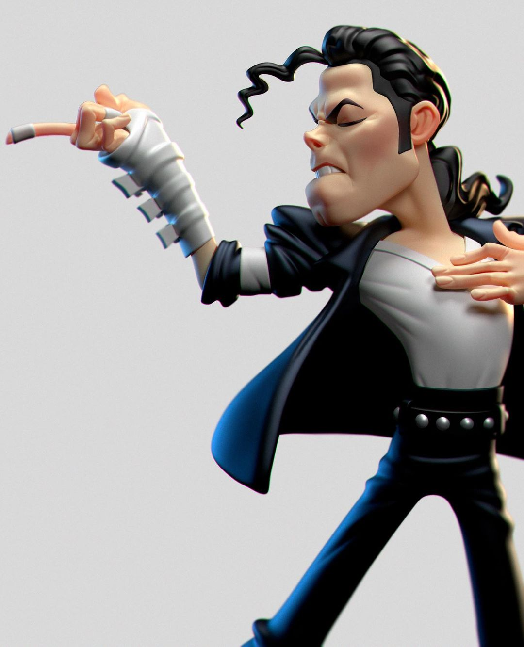funny 3d model character michael jackson