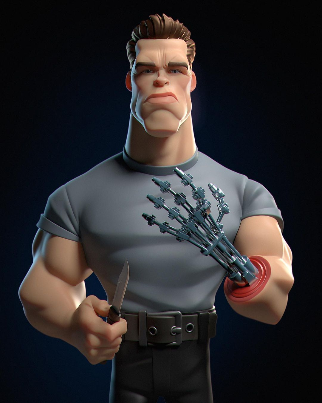 funny 3d model character arnold