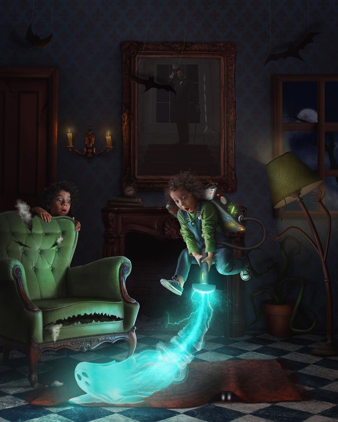 surreal photomanipulation ghost detectors by vanessa rivera