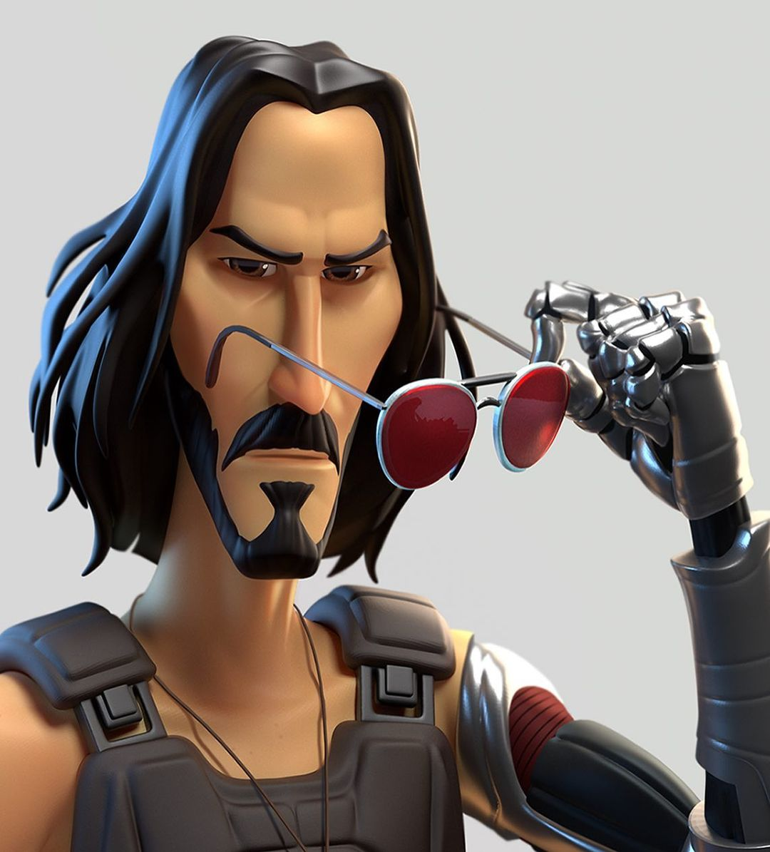 funny 3d model character keanu reaves
