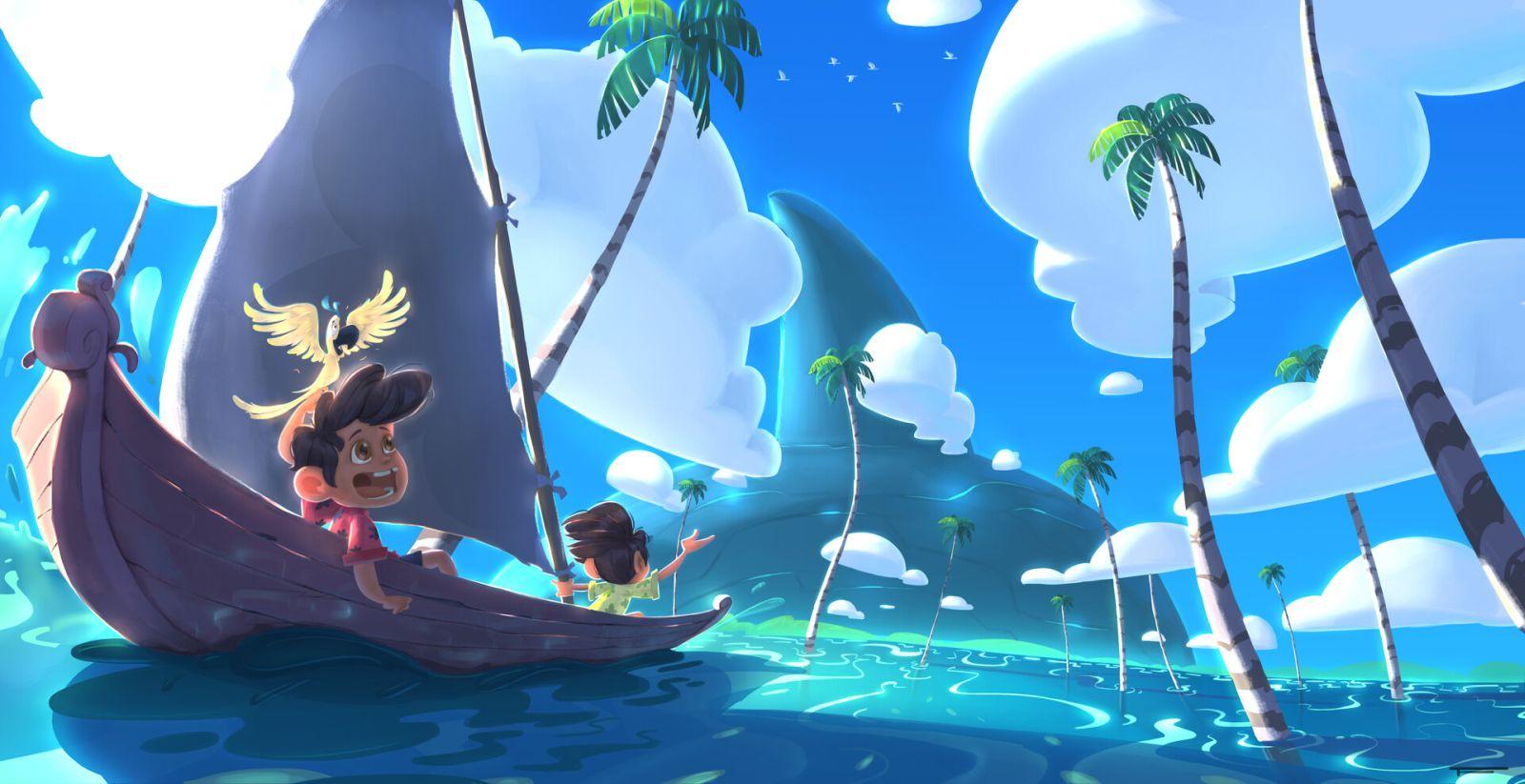 indian digital illustration sea travel