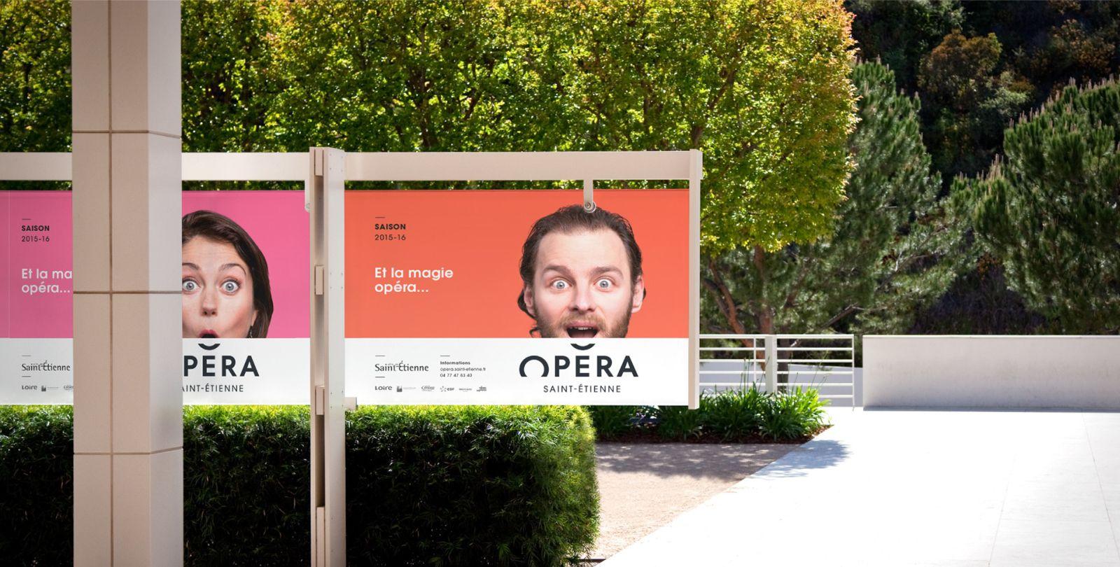 innovative brand design identity of saint etienne opera by grapheine