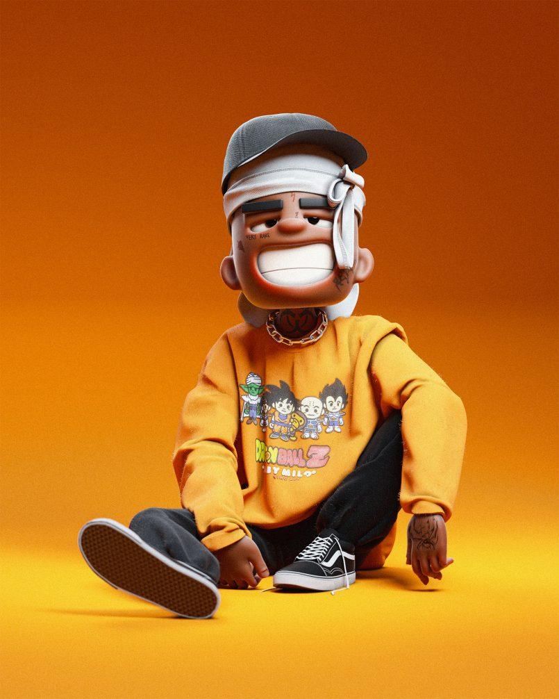 3d model smiling boy