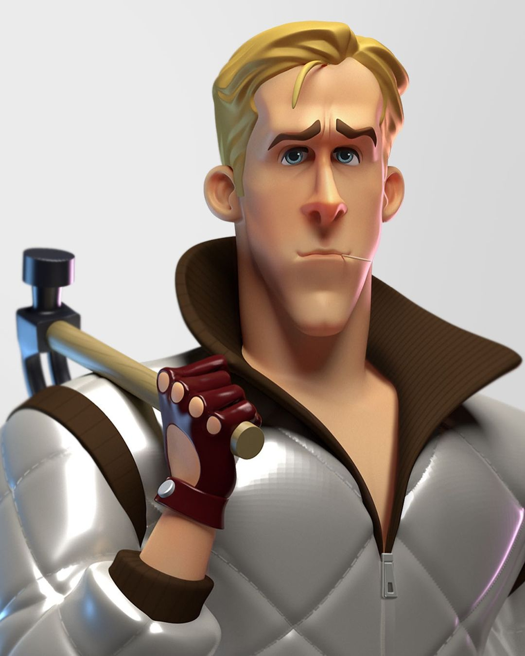 funny 3d model character ryan gosling