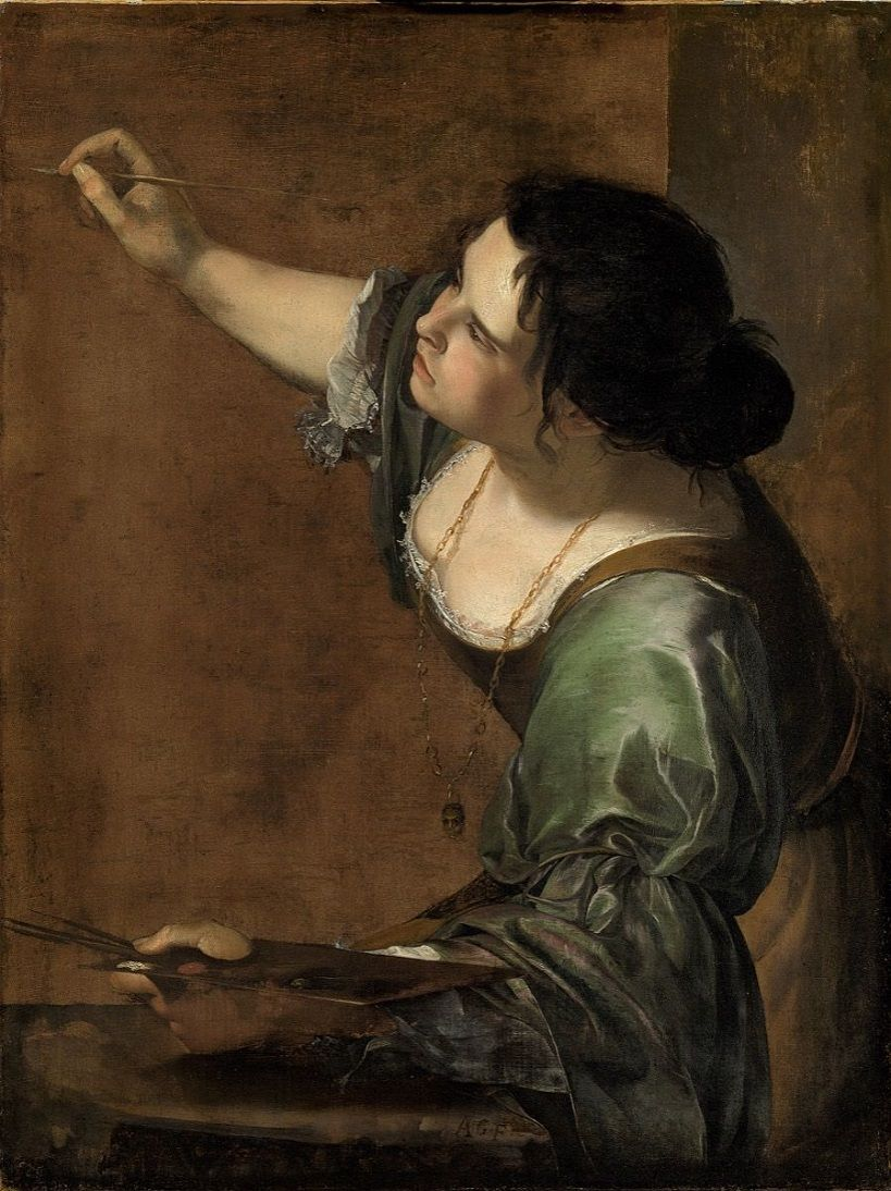 best artwork self portrait as the allegory of painting by artemisia
