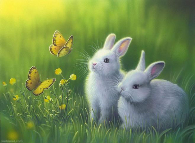 rabbit fantasy artwork