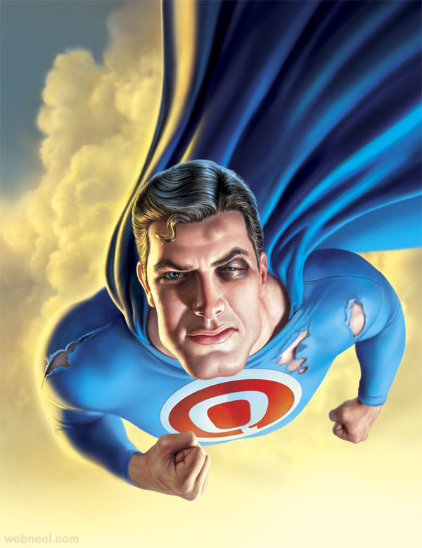 super man digital art by mark fredrickson