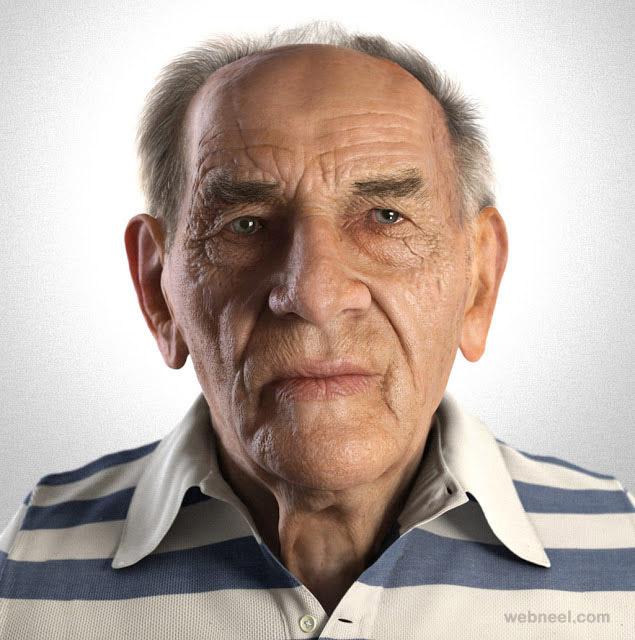 3d men portraits by zbynek kysela