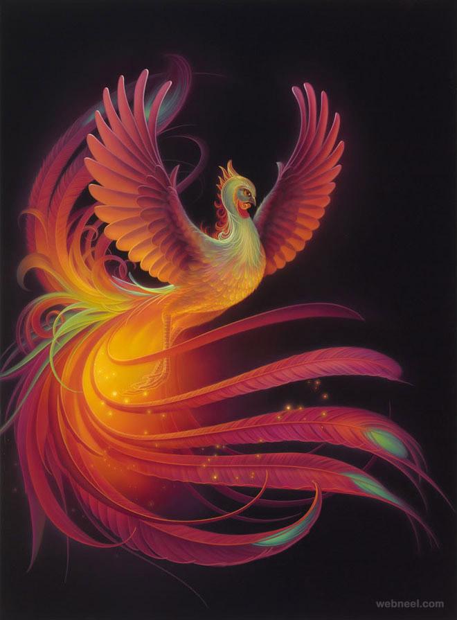 phoenix fantasy artwork