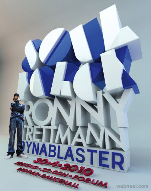 awesome 3d typogrpahy