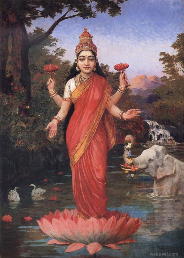 lakshmi ravi varma paintings