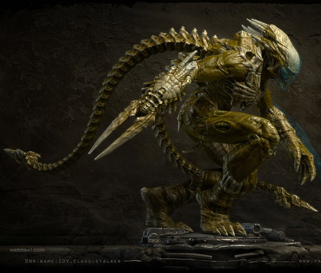 alien 3d monster character