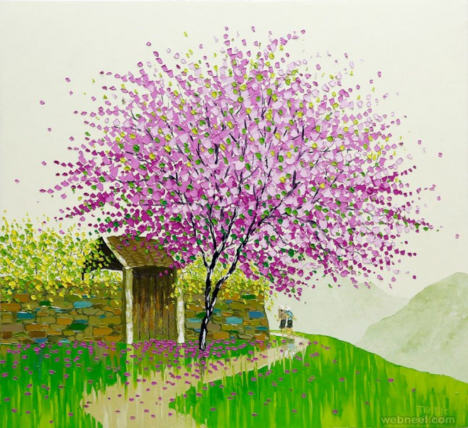 autumn painting by phan thu trang