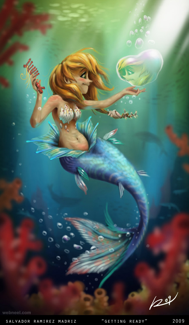 mermaid digital art by salvador