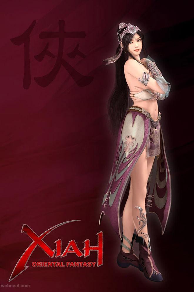 oriental 3d fantasy art