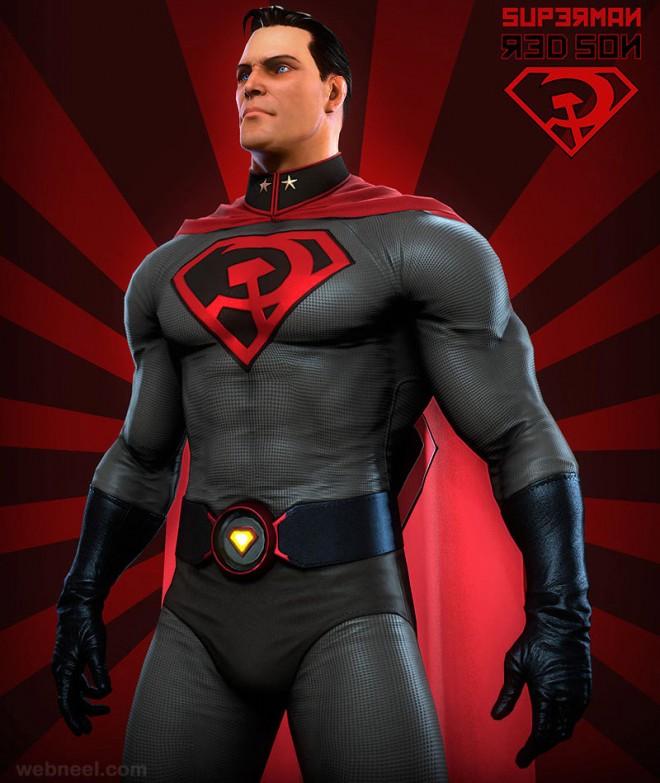 3d superman model by simone corso