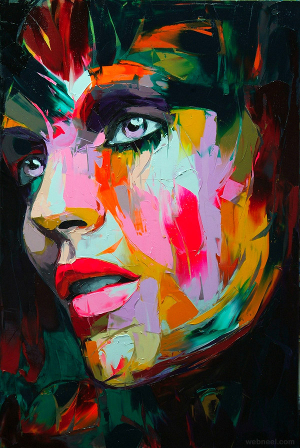 colorful painting by francoise nielly