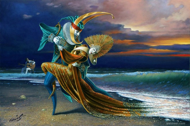 sunset tango by michael cheval