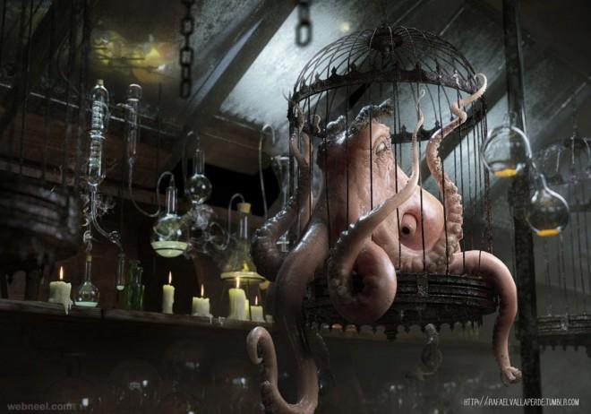 evil octopus by rafajija