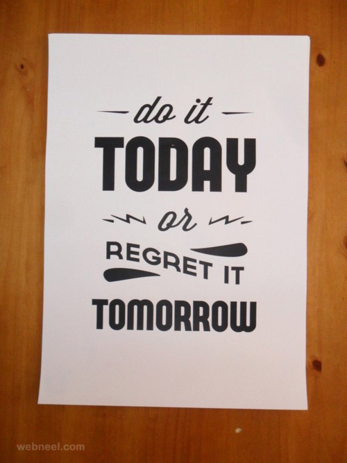 typography quotes poster design