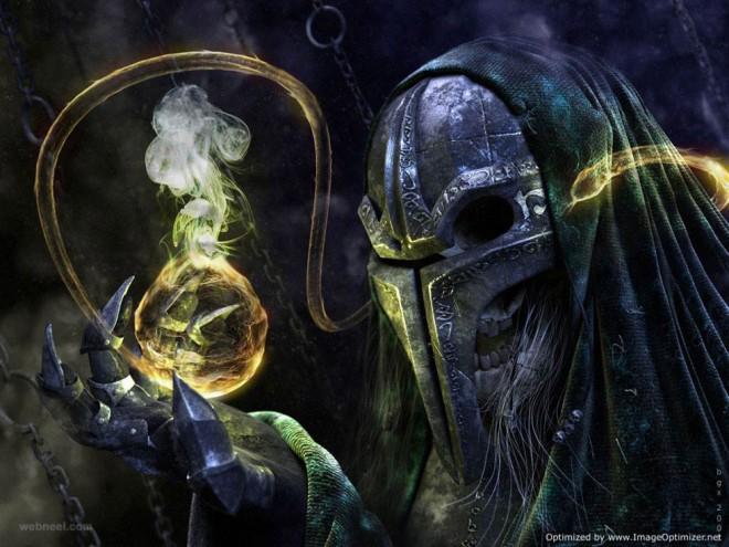 undead wizard fantasy art by michal suchanek
