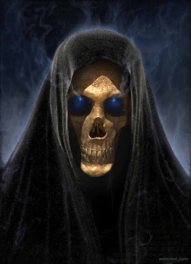 skull death by darkodev