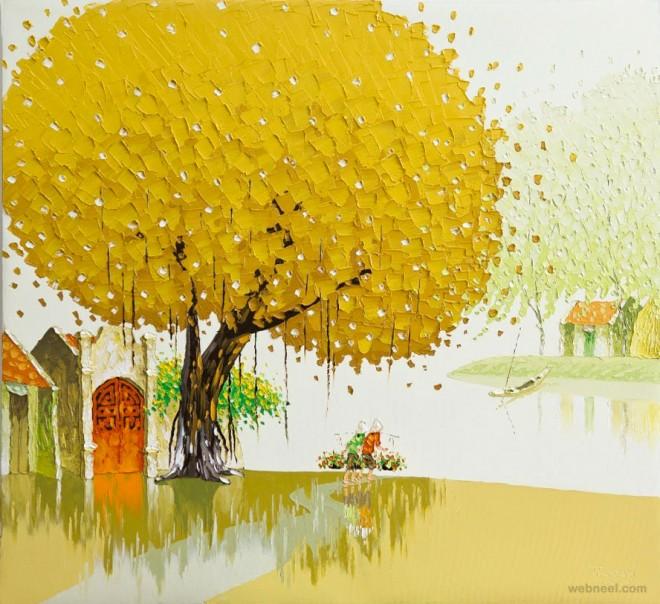 autumn painting by phan thu trang