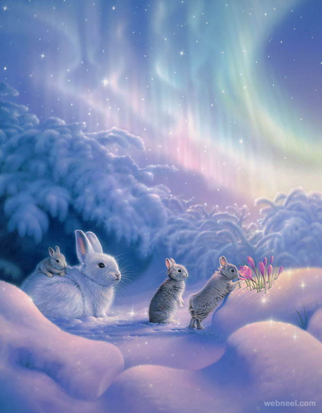 bunnies fantasy artwork