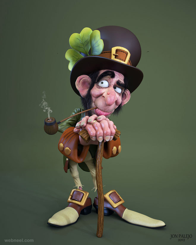 funny goblin 3d cartoon character by denis
