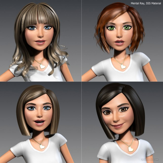 girl 3d cartoon character