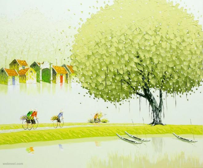 spring painting by phan thu trang