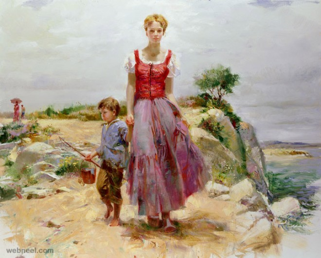 cliffside retreat painting by pino daeni