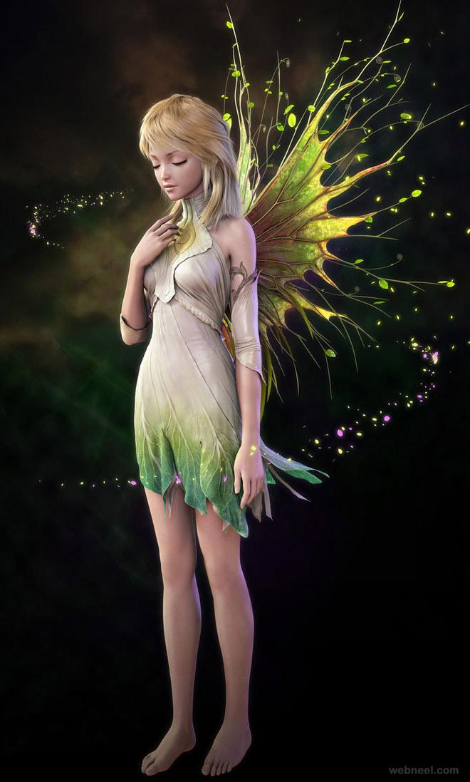 prius anime 3d fantasy art by jaegil lim