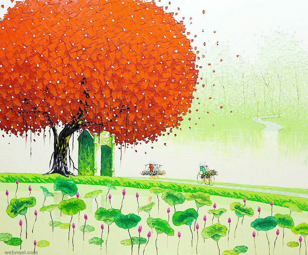 summer painting by phan thu trang