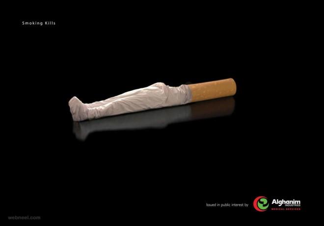 anti smoking awareness dead body