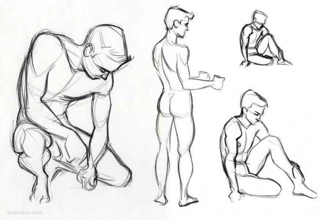 life drawing poses