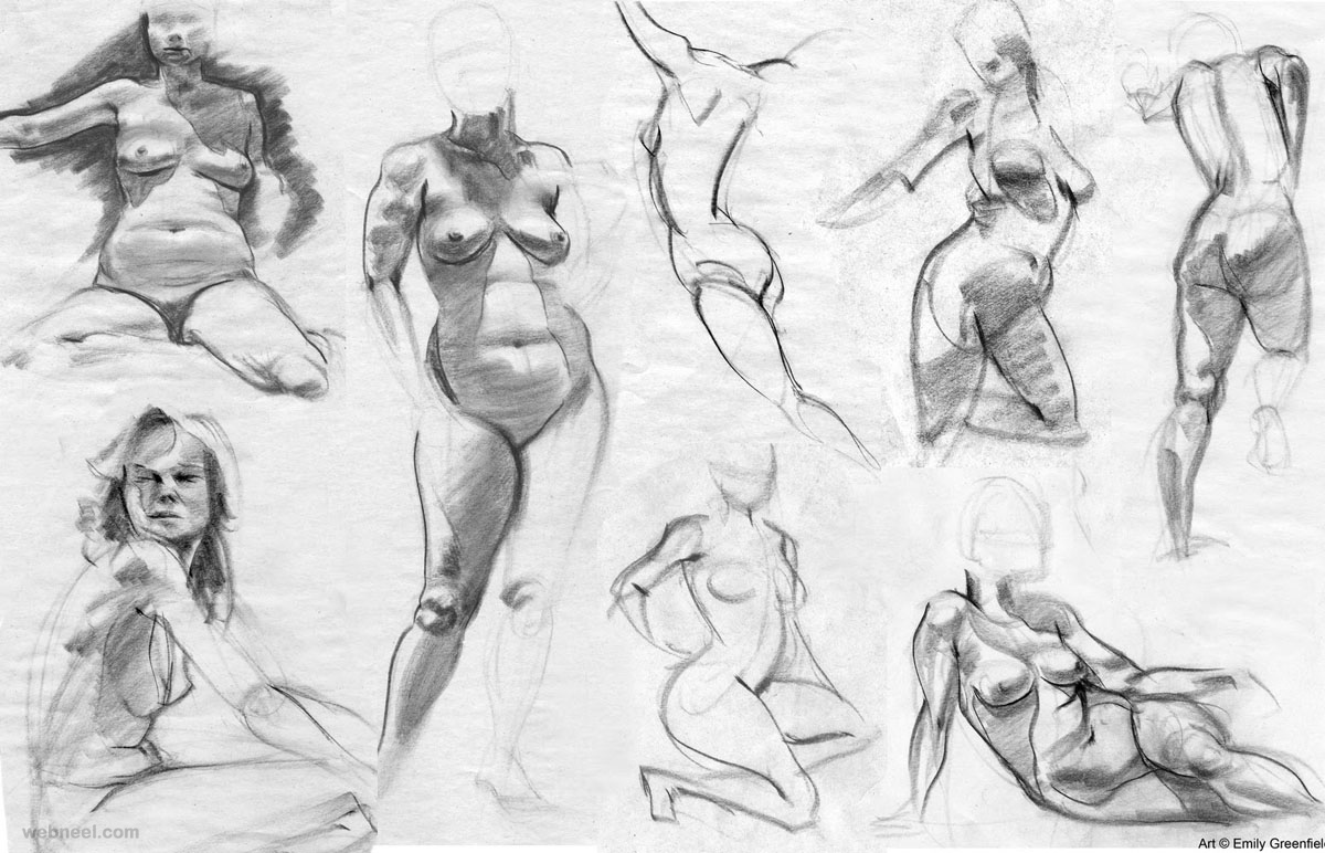 life drawing woman