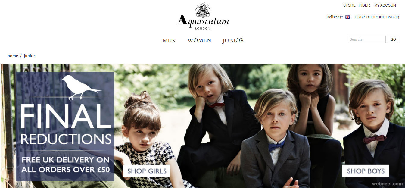 aquascutum fashion website