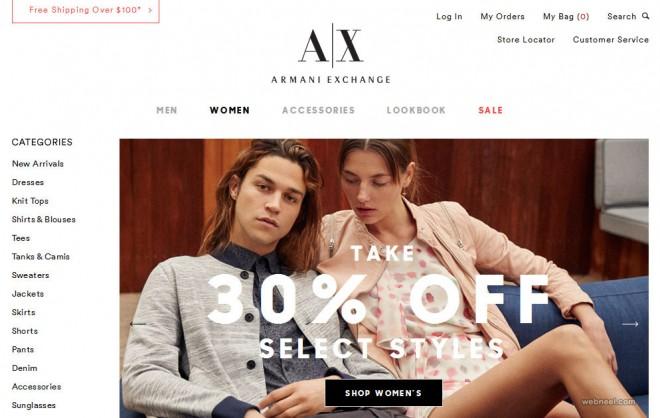 armani exchange fashion website