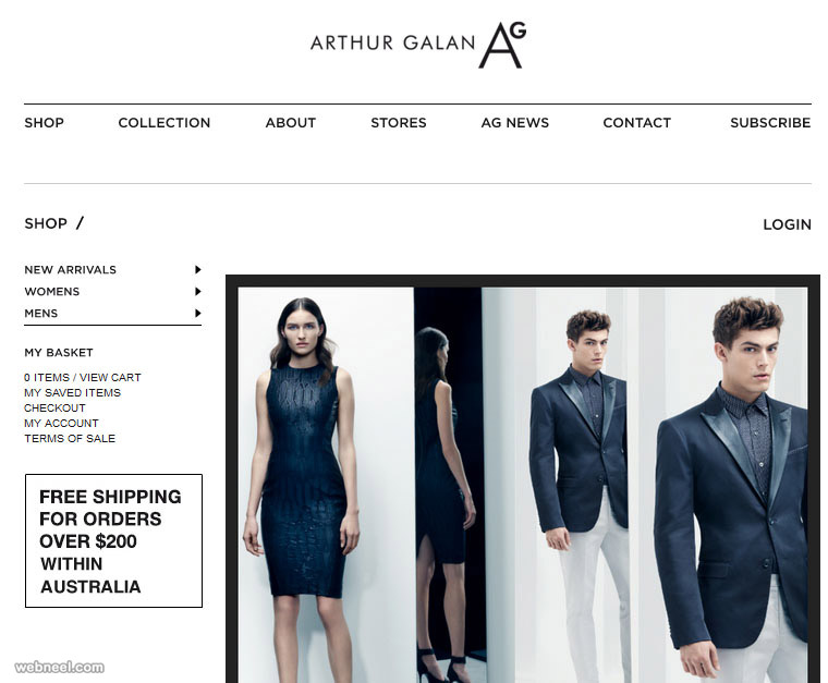 arthur galan fashion website
