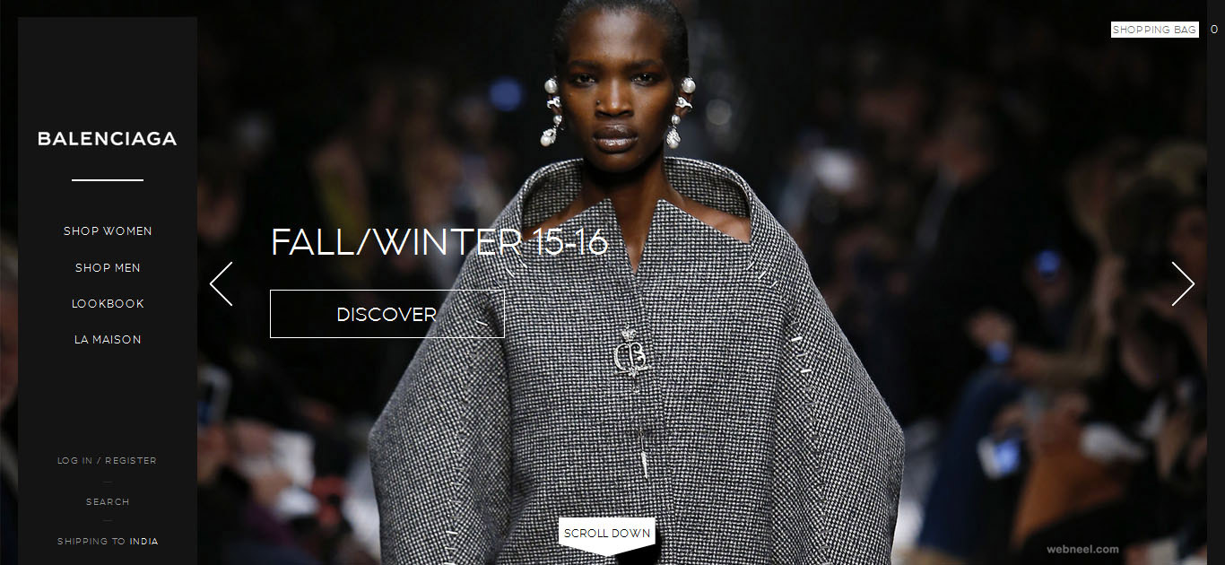 balenciaga fashion website