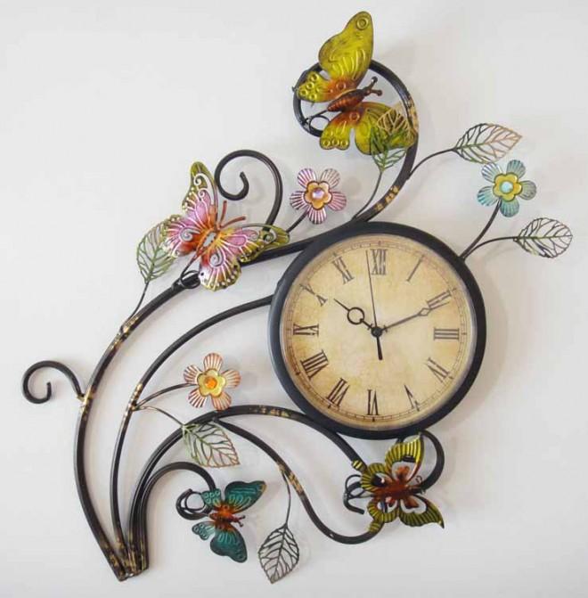 butterfly clock wall art