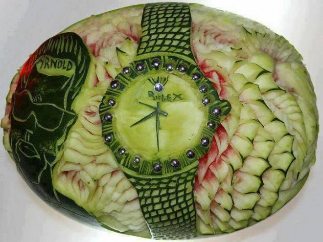 fruit carving watermelon