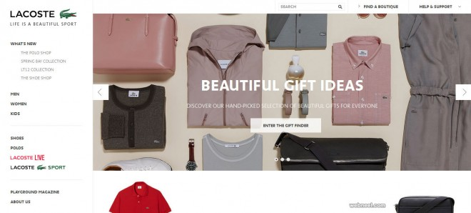 lacoste fashion website