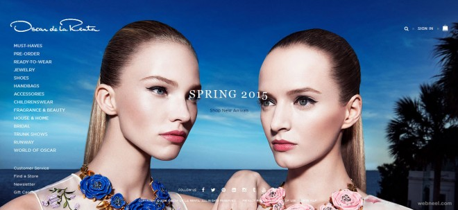 oscar de la renta fashion website