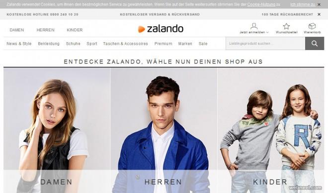 zalando fashion website